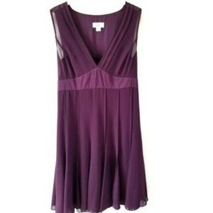 LOFT Purple V-Neck A-Line Dress 2